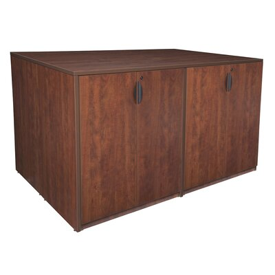 Stand Up Quad Wood Storage Cabinet Product Photo