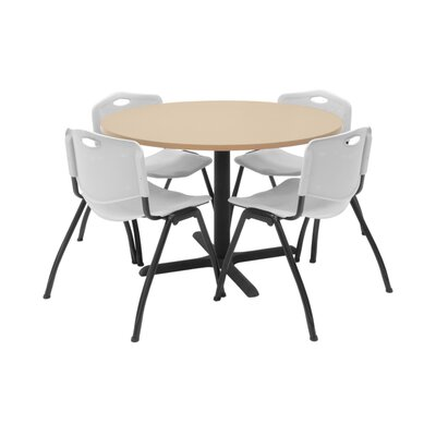 Hospitality Round Table with Chairs Chair Color: Grey, Size: 42