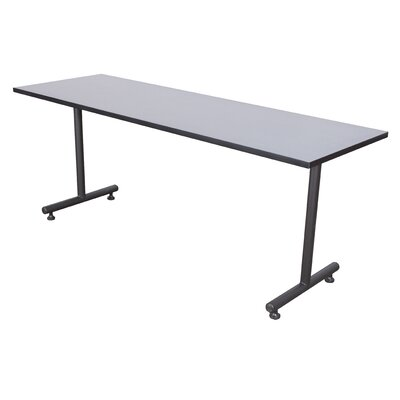 Training Table with Wheels Tabletop Finish: Grey Nebula, Size: 48 W