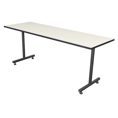 Training Table with Wheels Size: 42 W, Tabletop Finish: Grey Nebula