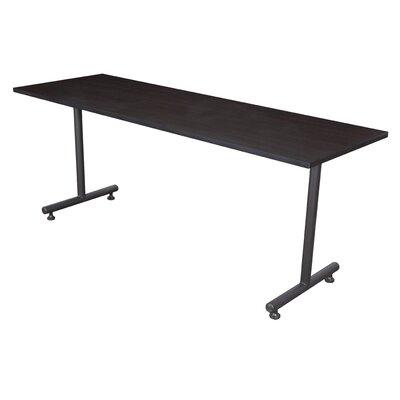 Training Table with Wheels Tabletop Finish: Mocha Walnut, Size: 60 W