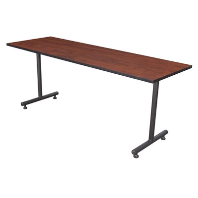 Training Table with Wheels Tabletop Finish: Cherry, Size: 66 W
