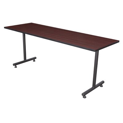 Training Table with Wheels Tabletop Finish: Mahogany, Size: 66 W
