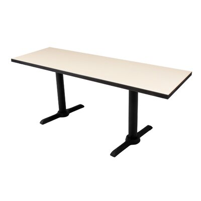 Training Table Tabletop Finish: Beige Nebula, Size: 60 W