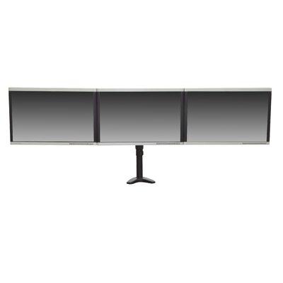 Articulating Triple Monitor Mount Height Adjustable 3 Screen Desk Mount