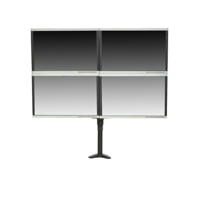 Articulating Quad Monitor Mount Height Adjustable 4 Screen Desk Mount