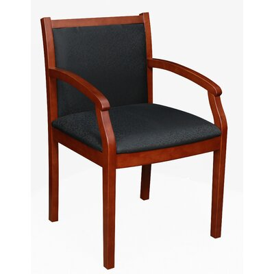 Linh Guest Chair Finish: Cherry, Fabric: Black