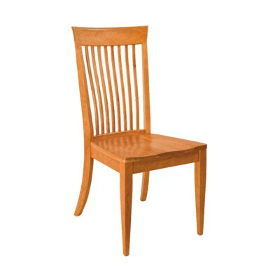 Langhorne Side Chair Finish: Maple - White Linen
