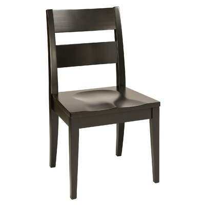 Sedgefield Solid Wood Dining Chair Finish: Maple - Black