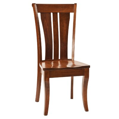Towson Solid Wood Dining Chair Finish: Maple - White Linen
