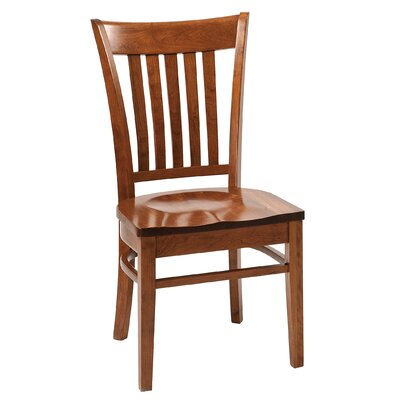 Havelock Solid Wood Dining Chair Finish: Maple - White Linen