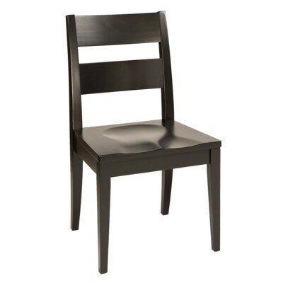 Sedgefield Solid Wood Dining Chair Finish: Maple - White Linen