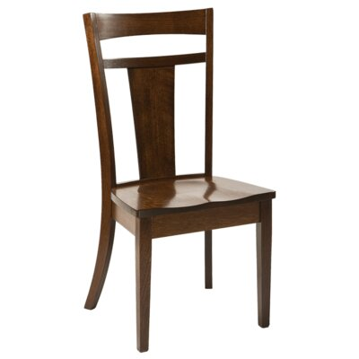 Strasburg Solid Wood Dining Chair Finish: Maple - White Linen