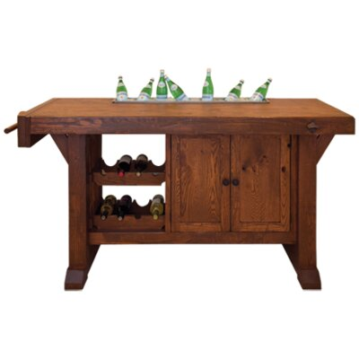 Kennebec Workbench Buffet Color: Oak - Slate