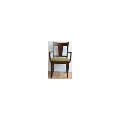 Eastport Arm Chair Arm Chair Finish: Maple - Baker's Chocolate