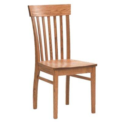 Hudson Solid Wood Dining Chair Finish: Oak - Auburn