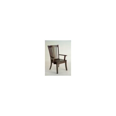 Newport Arm Chair Arm Chair Finish: Maple - Black