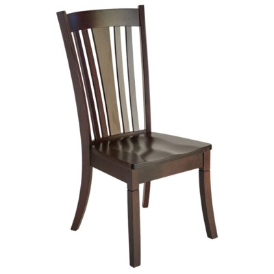 Newport Side Chair Side Chair Finish: Maple - Bakers Chocolate