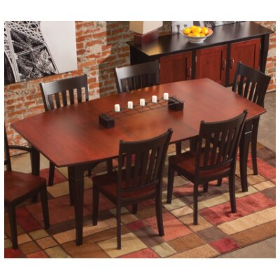 Montclair Dining Table Table Finish: Oak - Cappuccino