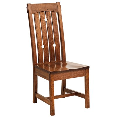 MacArthur Solid Wood Dining Chair Finish: Oak - Cappuccino