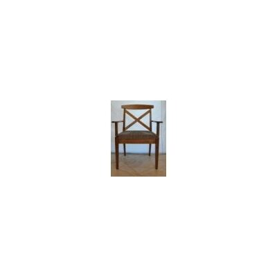 Kingston Arm Chair Arm Chair Finish: Maple - White Linen