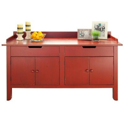 Clearmont Sideboard Color: Cherry - Aged Brick