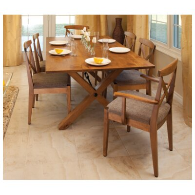 Kingston Dining Table Table Finish Maple White Linen