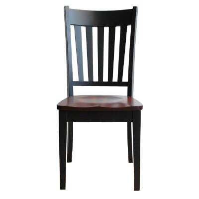 Montclair Side Chair Color: Oak - Black Walnut