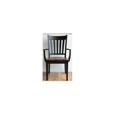 Montclair Arm Chair Arm Chair Finish: Maple - Bakers Chocolate