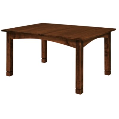 Sedgefield Extendable Dining Table Finish: Oak - Black Walnut