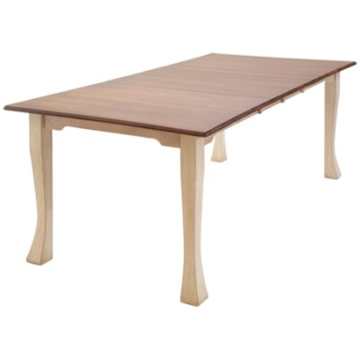 Millhouse Dining Table Table Finish: Oak - Black Walnut