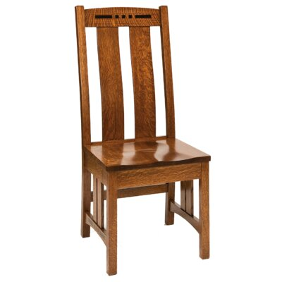 Staunton Side Chair Finish: Maple - White Linen