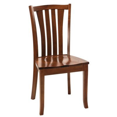 Hollins Solid Wood Dining Chair Finish: Maple - White Linen