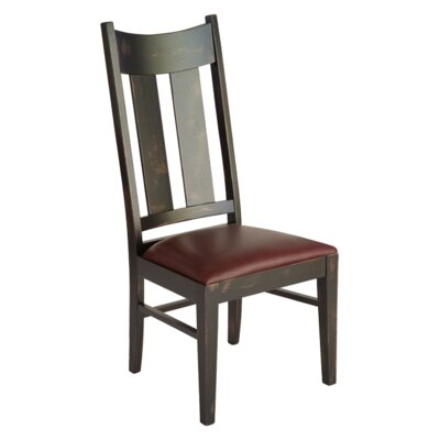 Stratton Side Chair Finish: Maple - White Linen
