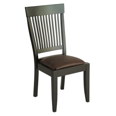 Montgomery Side Chair Finish: Maple - Black