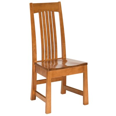 Sherman Solid Wood Dining Chair Finish: Maple - Black