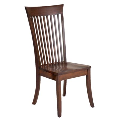 Hampton Solid Wood Dining Chair Finish: Maple - Bakers Chocolate