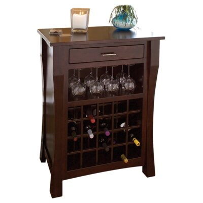 Newport 20 Bottle Floor Wine Rack Finish: Cherry - Black Cherry