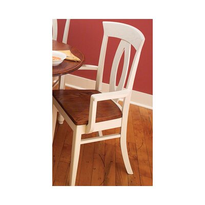Bay Harbour Solid Wood Dining Chair Finish: Maple - White Linen
