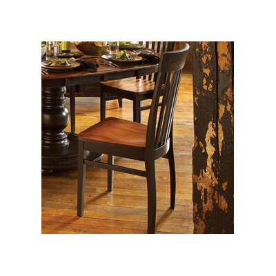 Hudson Solid Wood Dining Chair Finish: Oak - Slate