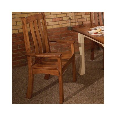 Millhouse Arm Chair Arm Chair Finish: Maple - Bakers Chocolate