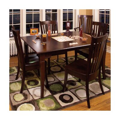 Newport Dining Table Table Finish Maple Black