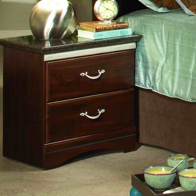 Sandberg Furniture Café La Jolla 2 Drawer Nightstand