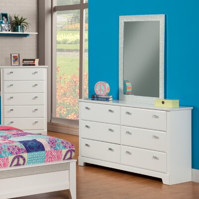 Hailey 6 Drawer Dresser with Mirror