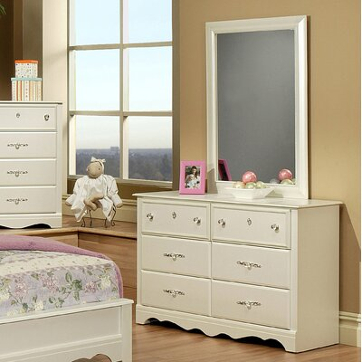 Sandberg Furniture Enchanted 6 Drawer Dresser with Mirror (2 Pieces)