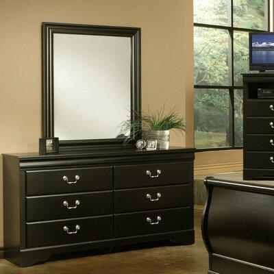 Regency 6 Drawer Dresser with Mirror