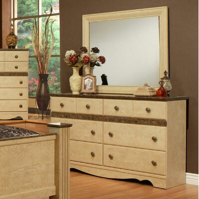 Casa Blanca 6 Drawer Dresser with Mirror