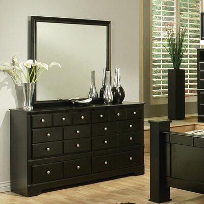 Elena 6 Drawer Dresser with Mirror