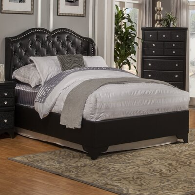 Eva Upholstered Panel Bed Size: Queen