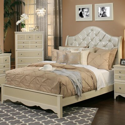 Marilyn Upholstered Panel Bed Size: Queen